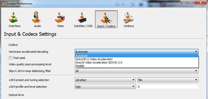 Аппаратная поддержка декодирования видео (H 265/HEVC,H 264