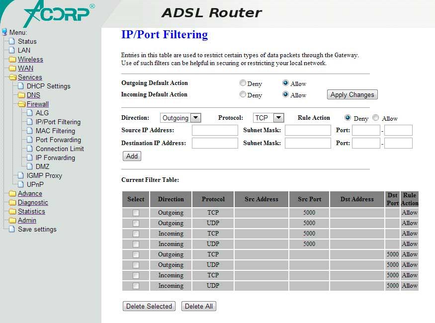 Инструкции По Настройке Подключения Модема Acorp W510n