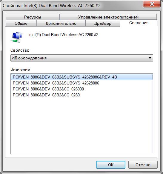 WiFi-модули Intel Wireless: N/AC7260/AC8260, AC3160/3165, N/AC7265