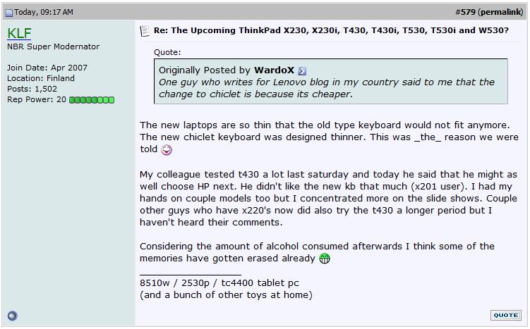 Lenovo ThinkPad 2012  2013 - Ivy Bridge/Fusion: X230/X230s, L430