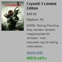 crysis 3 не работает кнопка назад в меню