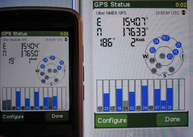 da87e18abafe Если кому интересно, сравнительные показания Rover Navisat (слева) и  GlobalSat BT-338 (справа) в трех сантиметрах друг от друга на подоконнике.