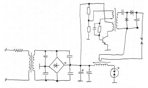 1.jpg. спасибо за схему. запитывать этот высоковольтный преобразователь наверное лучше от постоянки которой лампа...