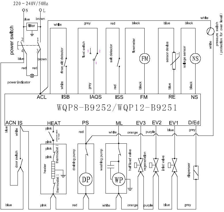 Посудомоечная машина krona электрическая схема5