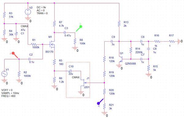 Схема без модулятора