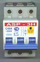 """Установка автоматического выключателя с защитой от превышения и  """"скачков """"сетевого напряжения ASP-3Н."""