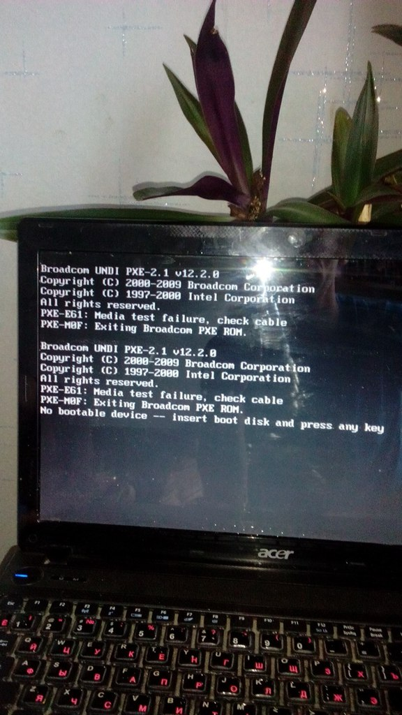 NO BOOTABLE DEVICE INSERT BOOT DISK AND PRESS ANY KEY - No