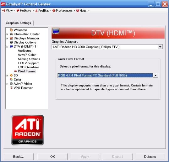 Решение предложено.  Выберите RGB 4:4:4 в Pixel Format.  Пример.  Постоянно или... http://forum.ixbt.com/post.cgi...